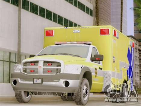 Dodge Ram Ambulance BCFD Paramedic 100 para GTA San Andreas left