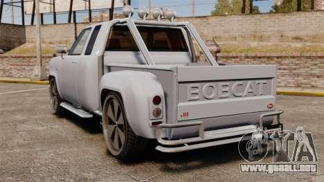 Bobcat en unidades de 24 pulgadas para GTA 4 Vista posterior izquierda
