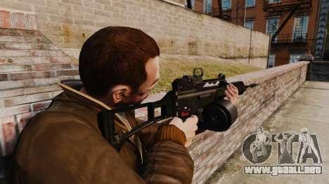 Rifle de asalto MG36 v4 H & K para GTA 4 segundos de pantalla