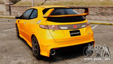 Honda Civic Type-R (FN2) para GTA 4 Vista posterior izquierda