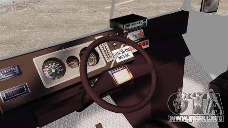 Chevrolet Step-Van 1985 LCPD para GTA 4 vista hacia atrás