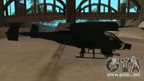 AT-99 Scorpion Gunship from Avatar para GTA San Andreas vista posterior izquierda