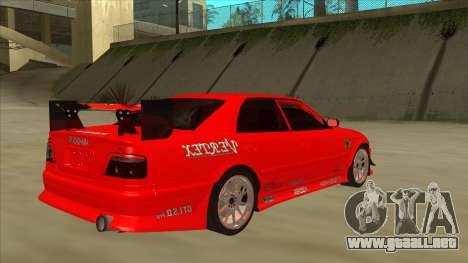 Toyota Chaser JZX100 DriftMuscle para la visión correcta GTA San Andreas