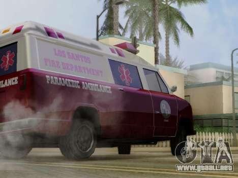 Vapid Ambulance 1986 para GTA San Andreas vista hacia atrás