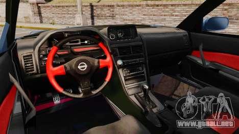 Nissan Skyline R34 GT-R Z-tune para GTA 4 vista hacia atrás