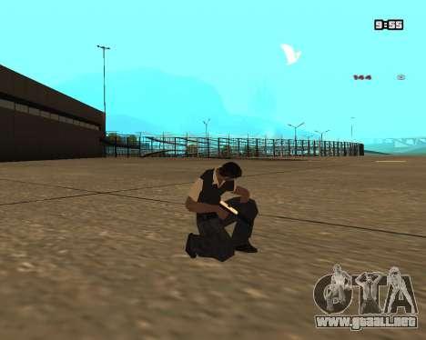 White Chrome Silenced para GTA San Andreas segunda pantalla