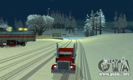 Invierno mod para SA: MP para GTA San Andreas segunda pantalla