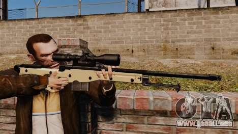 Rifle de francotirador L115A1 AW para GTA 4
