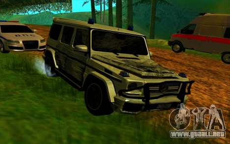 Mercedes-Benz G65 AMG 2013 para vista lateral GTA San Andreas