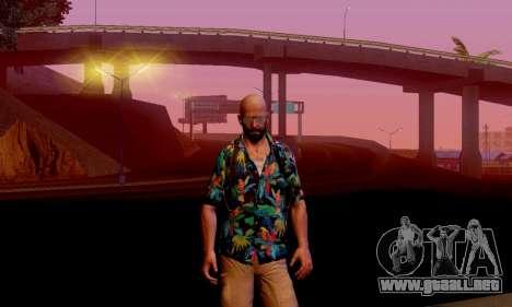 Max Payne 3 para GTA San Andreas segunda pantalla