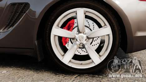 Porsche Cayman S para GTA 4 vista hacia atrás