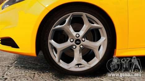 Ford Focus ST 2013 para GTA 4 vista hacia atrás