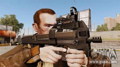 Subfusil FN P90 para GTA 4 tercera pantalla