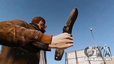 Cuchillo táctico v2 para GTA 4 tercera pantalla
