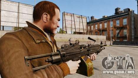 Ametralladora ligera M249 vi para GTA 4 segundos de pantalla