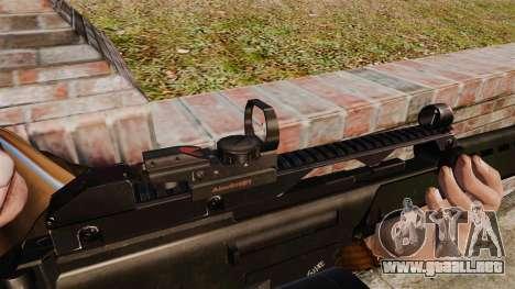 Rifle de asalto MG36 v4 H & K para GTA 4 adelante de pantalla