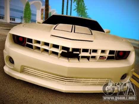 Chevrolet Camaro SS Tuning para GTA San Andreas vista posterior izquierda