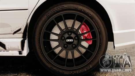 Mitsubishi Lancer Evolution VIII MR CobrazHD para GTA 4 vista hacia atrás