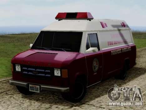 Vapid Ambulance 1986 para la visión correcta GTA San Andreas