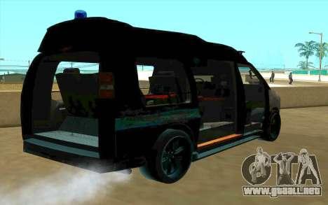 GMC Savana AWD FSB para la vista superior GTA San Andreas