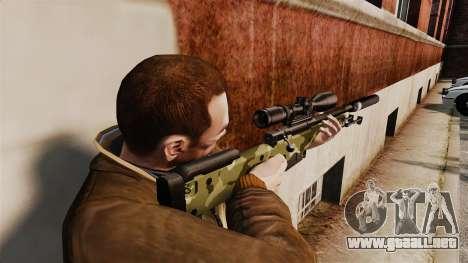 AW L115A1 rifle de francotirador con un silencia para GTA 4 segundos de pantalla