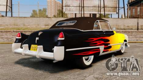 Cadillac Series 62 convertible 1949 [EPM] v2 para GTA 4 Vista posterior izquierda