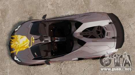 Lamborghini Aventador J Big Lambo para GTA 4 visión correcta