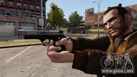 Beretta cromo-plateado para GTA 4 tercera pantalla