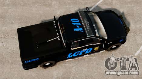 Ford F-150 v3.3 LCPD Auxiliary [ELS & EPM] v1 para GTA 4 visión correcta
