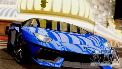 Lamborghini Aventador LP760-2 2013 para visión interna GTA San Andreas