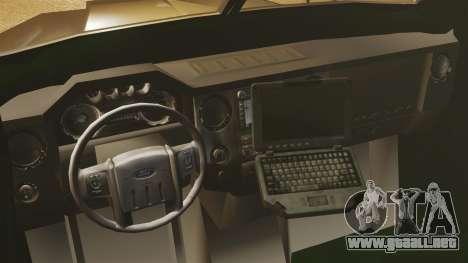 Lenco Bearcat blindados LSPD GTA V para GTA 4 vista interior