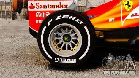 Ferrari F138 2013 v4 para GTA 4 vista hacia atrás