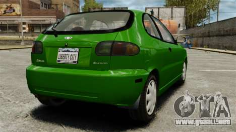 Daewoo Lanos FL 2001 US para GTA 4 visión correcta