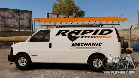 GMC Savana 2500 Rapid Towing Mechanic para GTA 4 left