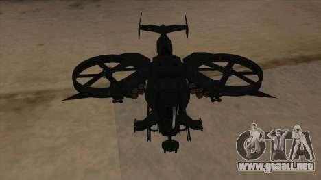 AT-99 Scorpion Gunship from Avatar para visión interna GTA San Andreas