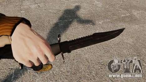 El cuchillo de Alabama Slammer negro para GTA 4