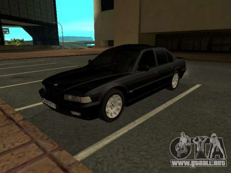 BMW 740I para GTA San Andreas left