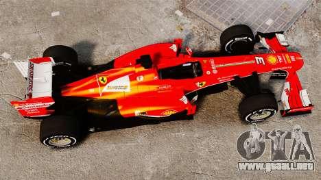 Ferrari F138 2013 v4 para GTA 4 visión correcta