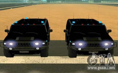 Hummer H2 para la vista superior GTA San Andreas