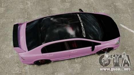 Honda Civic Type-R (Mugen RR) para GTA 4 visión correcta