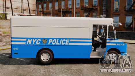 Chevrolet Step-Van 1985 NYPD para GTA 4 left