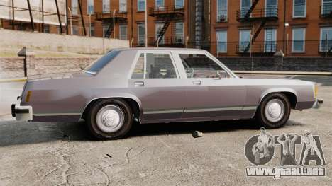Ford LTD Crown Victoria para GTA 4 left