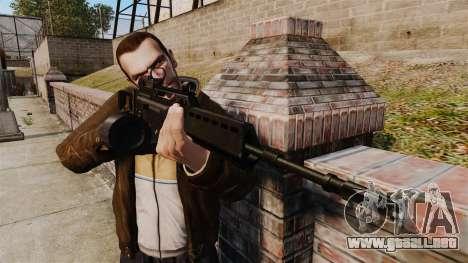 Rifle de asalto MG36 v4 H & K para GTA 4 tercera pantalla