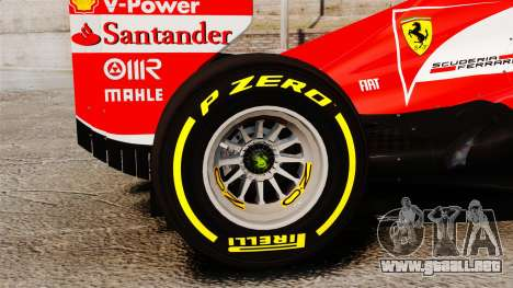 Ferrari F138 2013 v5 para GTA 4 vista hacia atrás