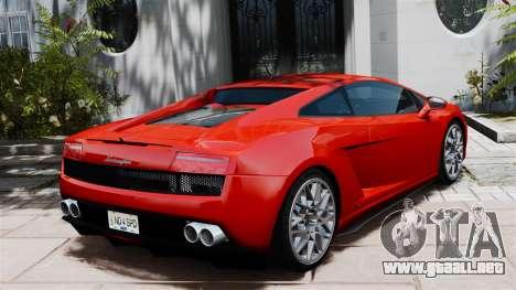 Lamborghini Gallardo LP560-4 [Final] v2 para GTA 4 Vista posterior izquierda