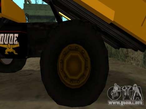 Dumper nuevo para vista inferior GTA San Andreas