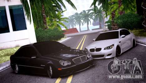 Mercedes-Benz C32 AMG para visión interna GTA San Andreas