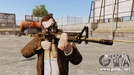El fusil M16A4 para GTA 4 tercera pantalla