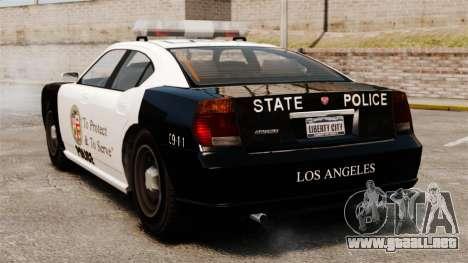 Buffalo policía LAPD v2 para GTA 4 Vista posterior izquierda