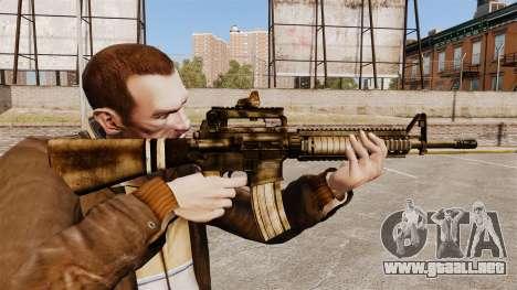 El fusil M16A4 para GTA 4